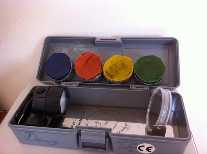 Órganos y colores: fosfenos: lámpara fosféncia iniciática de bolsillo para hacer fosfenos