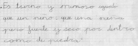 Aprendiendo a escribir con luz y ritmo: alumno 2/2