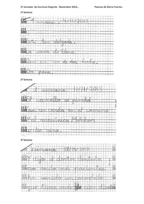 Escritura elegante con fosfenos y ritmo: aprender a escribir