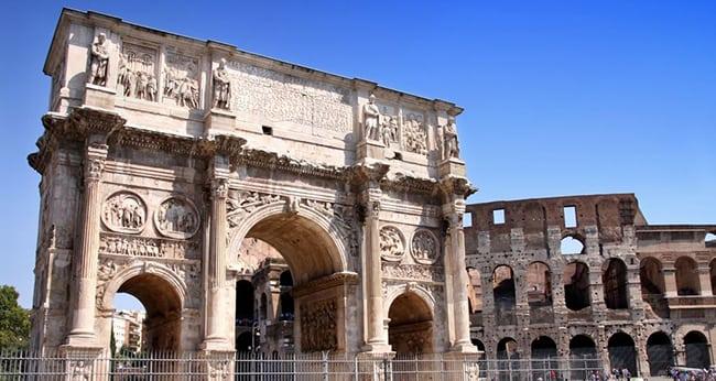 Arco de Constantino y Juliano el Apóstata