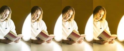 Ritmos circadianos y rendimiento de color de la luz